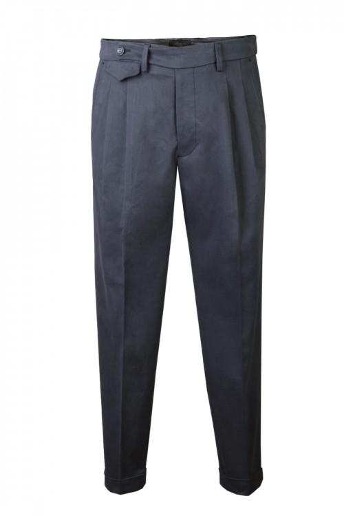 Παντελόνι ανδρικό με πιέτες και ρεβέρ
