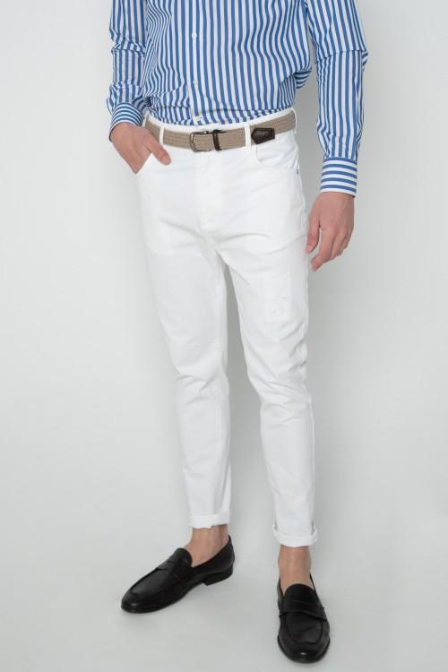 Παντελόνι βαμβακερό sarouel με σκίσιμο, ανδρικό