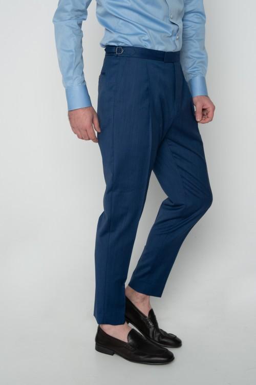 Παντελόνι σε γραμμή CARROT με πιέτες και εγκράφες, ανδρικό