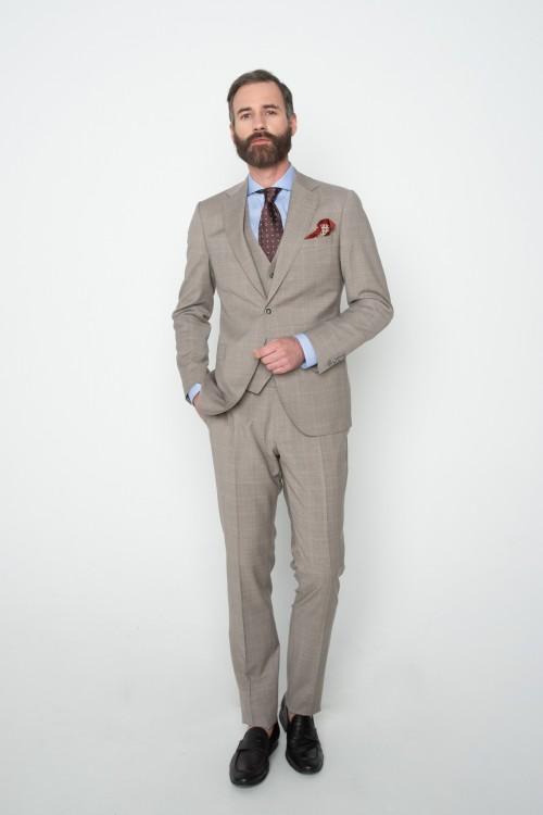 Checkered suit, Tropical Super 130's, men's