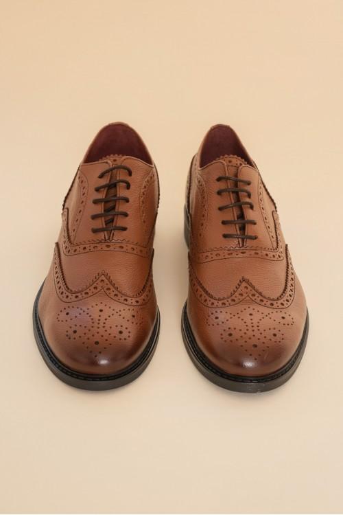 Παπούτσι δερμάτινο perfore, ανδρικό