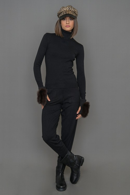 Πλεκτό παντελόνι φόρμα, γυναικείο