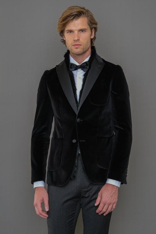 Men's Velvet Blazer