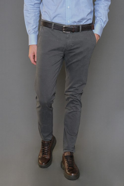 Chinos pants without lapel, men's