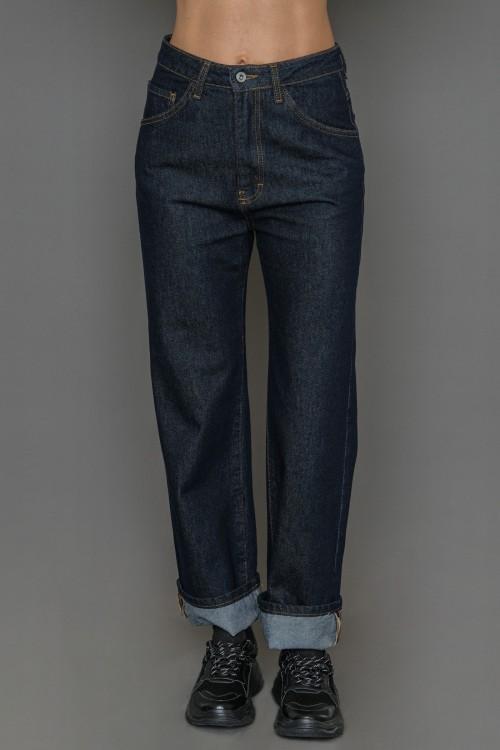 Παντελόνι jean ψηλόμεσο, γυναικείο